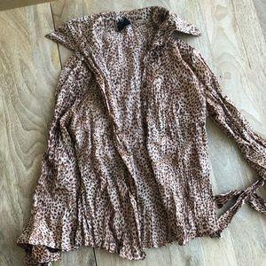 Original Just Cavalli Shirt, Leopard Print, Size S